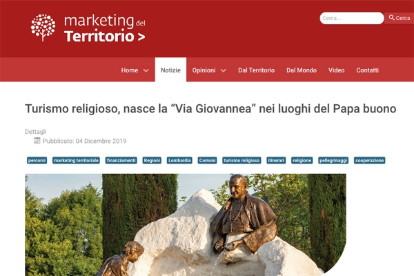 [Dicono di noi] Marketing del Territorio - 4 dicembre